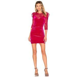 Lovers + Friends Aurora Velvet Lace Dress Size XXS
